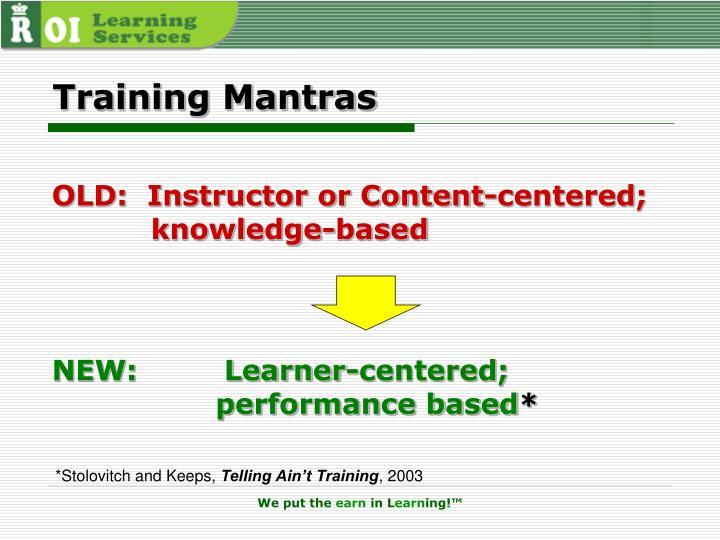 Training Mantras