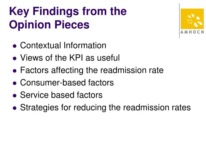 Key Findings from the