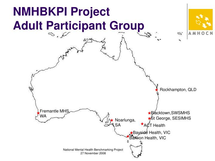 Nmhbkpi project adult participant group