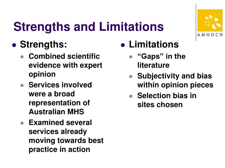 Strengths and Limitations