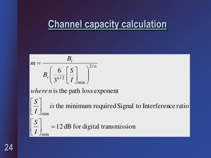 Channel capacity calculation