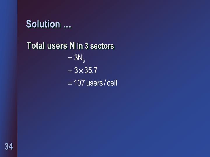 Solution …