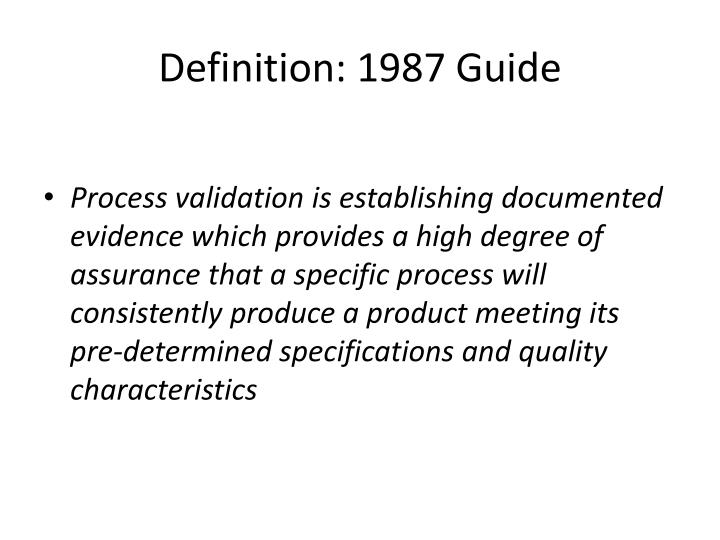 Definition: 1987 Guide