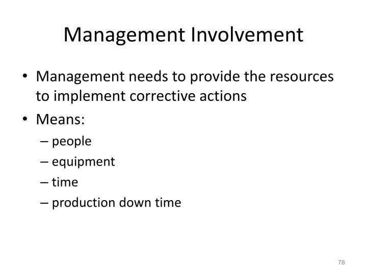 Management Involvement