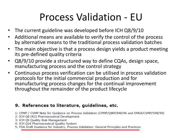 Process Validation - EU