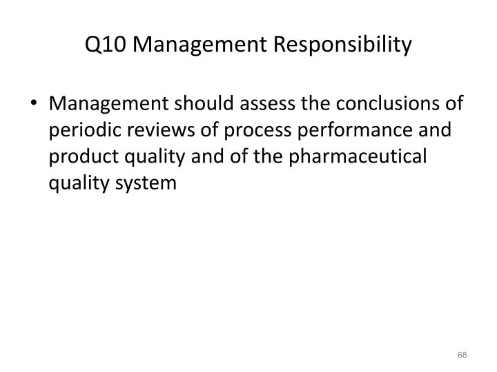 Q10 Management Responsibility