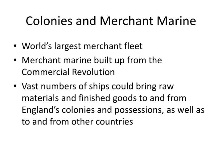 Colonies and Merchant Marine