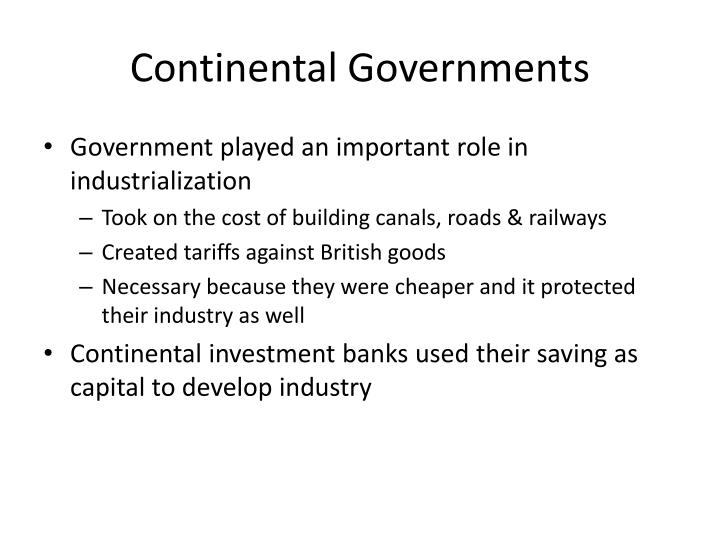 Continental Governments