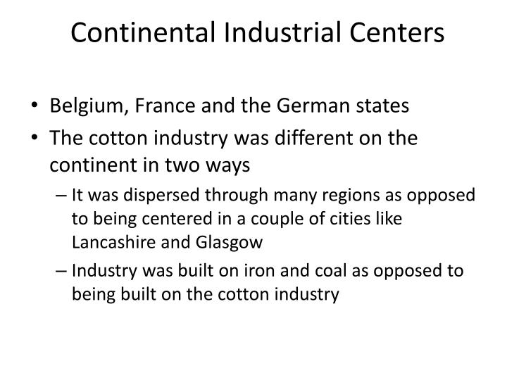 Continental Industrial Centers