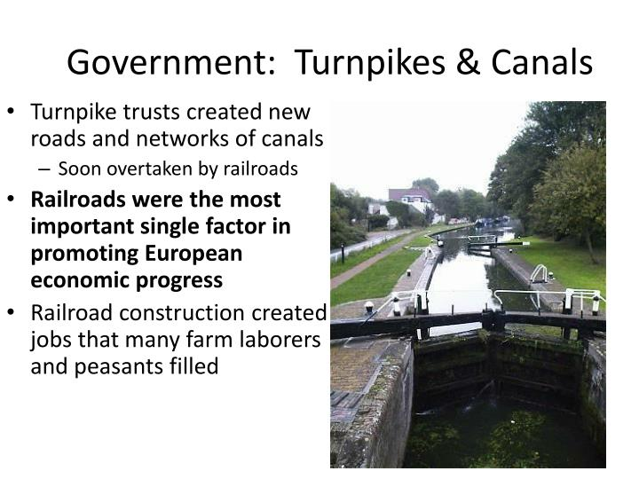 Government:  Turnpikes & Canals