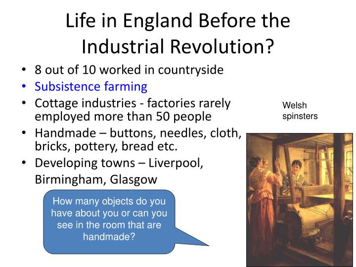 Life in England Before the Industrial Revolution?