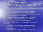 management mechanisms windows management instrumentation