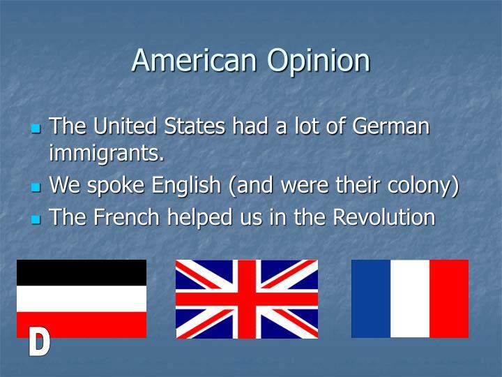 American Opinion