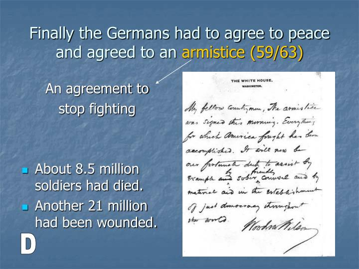 An agreement to