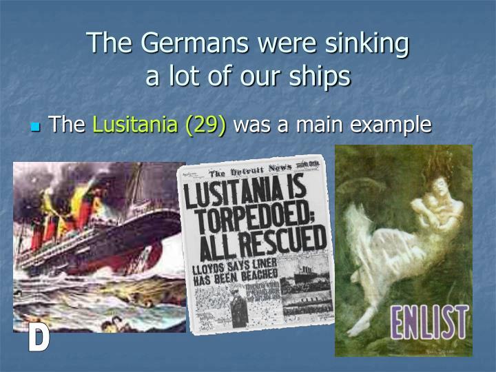 The Germans were sinking