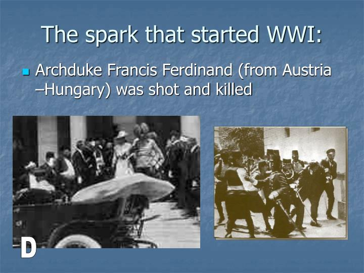 The spark that started WWI: