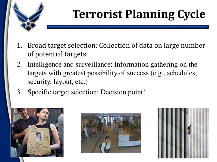 Terrorist Planning Cycle