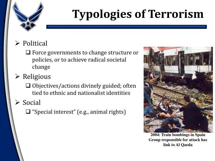 Typologies of Terrorism