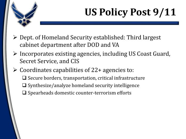 US Policy Post 9/11