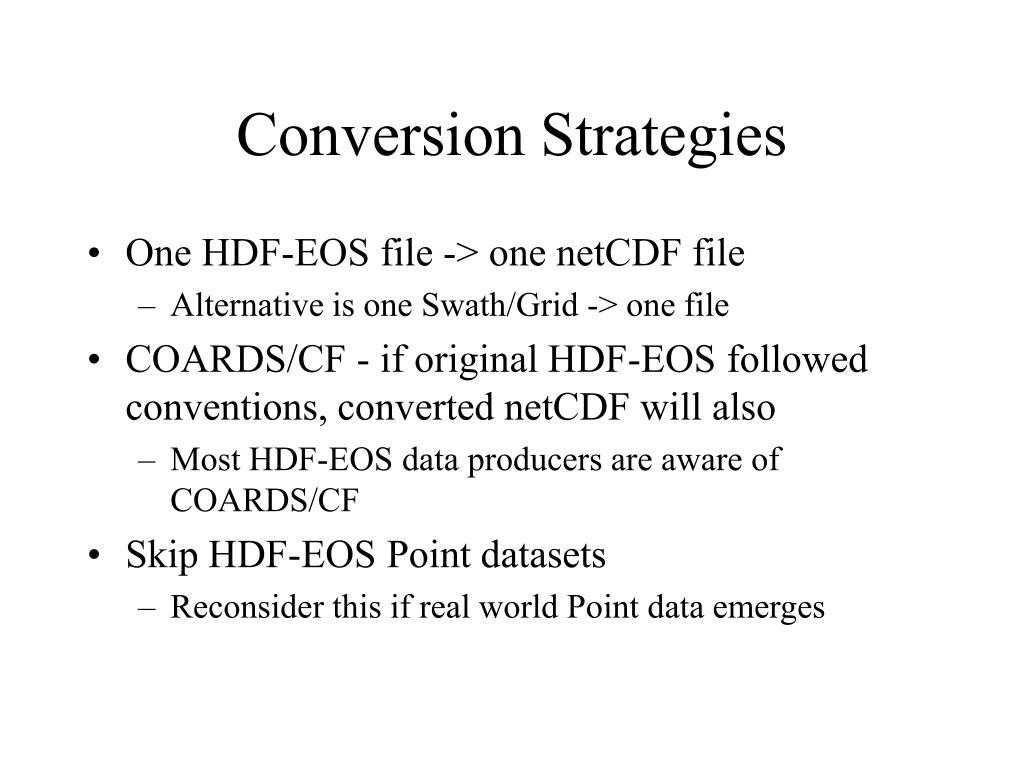 PPT - HDF-EOS 2/5 to netCDF Converter PowerPoint