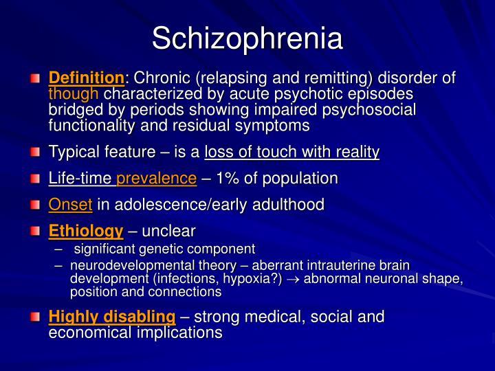 Schizophrenia  authorstream.