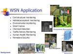 wsn application