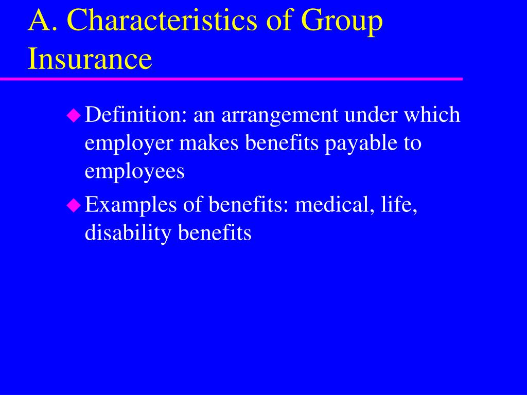 PPT - Group Insurance: Life and Disability Benefits ...