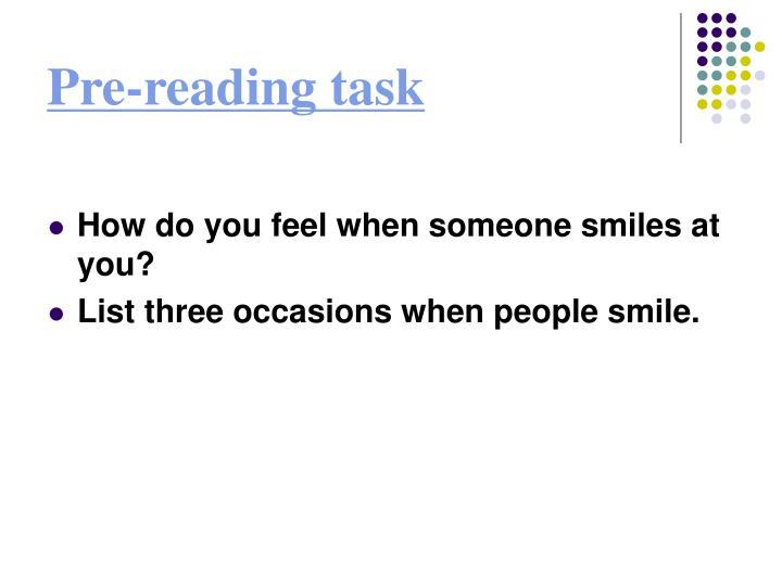 Pre reading task