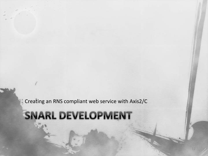 Creating an RNS compliant web service with Axis2/C