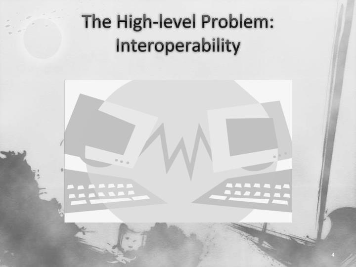 The High-level Problem: Interoperability