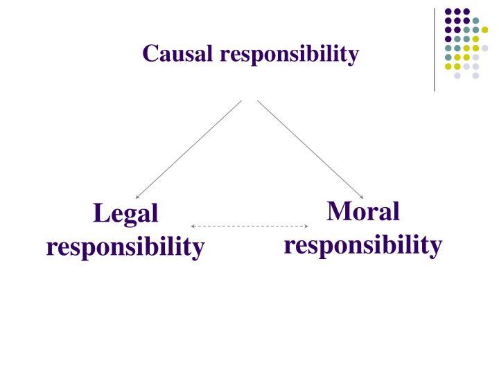 Causal responsibility