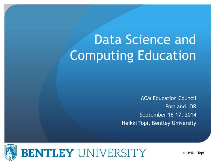 data science and computing education n.