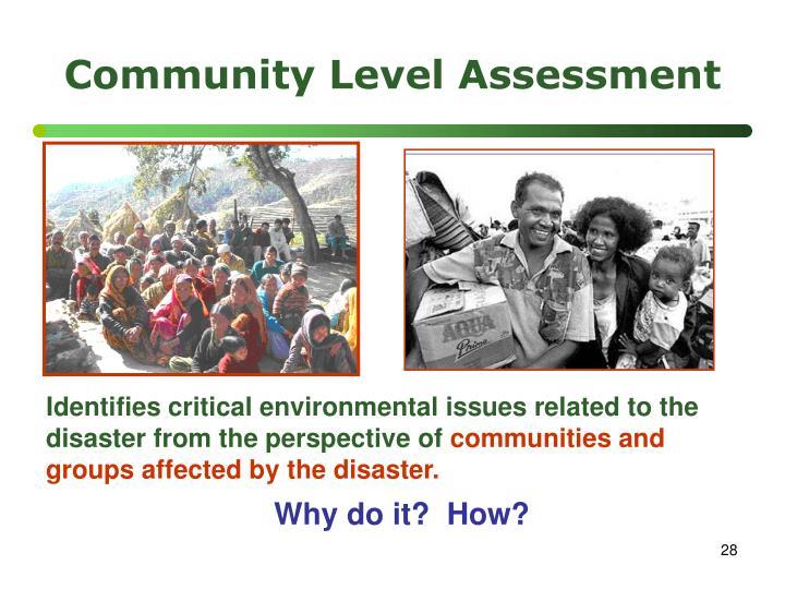 Community Level Assessment
