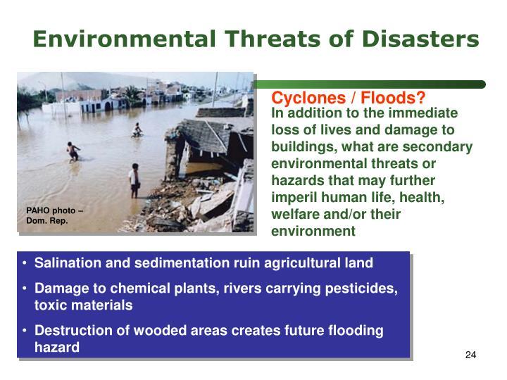 Environmental Threats of Disasters