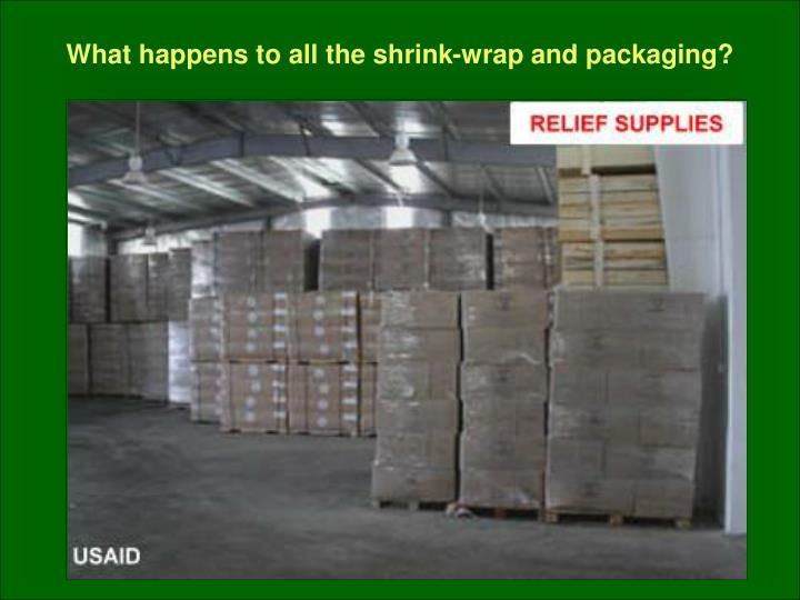 What happens to all the shrink-wrap and packaging?