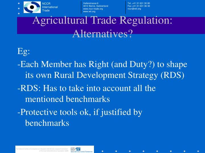 Agricultural Trade Regulation: