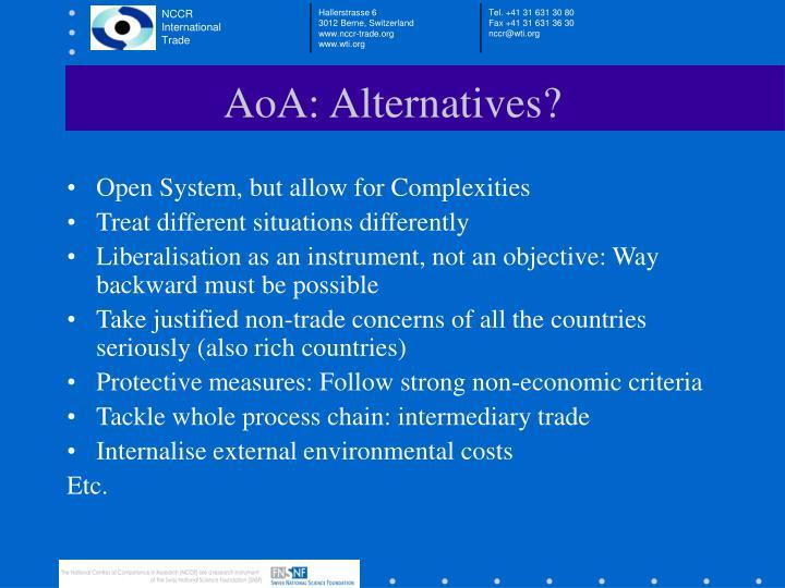 AoA: Alternatives?