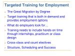 targeted training for employment