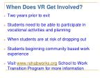 when does vr get involved