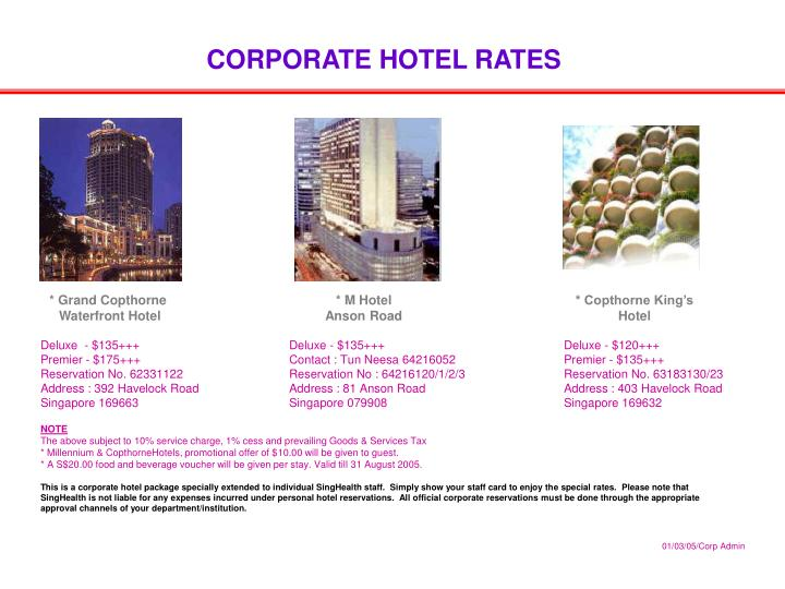 PPT - CORPORATE HOTEL RATES PowerPoint Presentation - ID:5666411