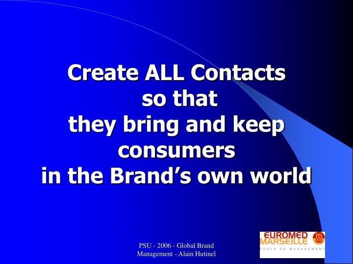Create ALL Contacts