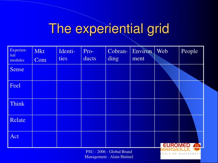 The experiential grid