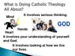 what is doing catholic theology all about1
