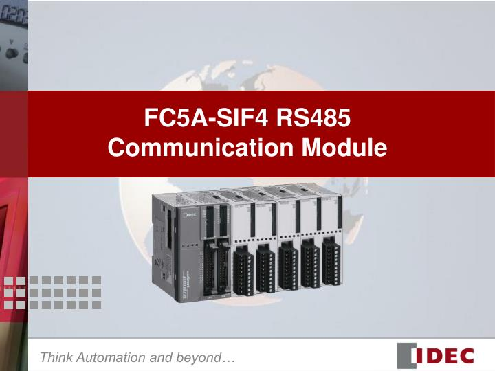 Fc5a sif4 rs485 communication module