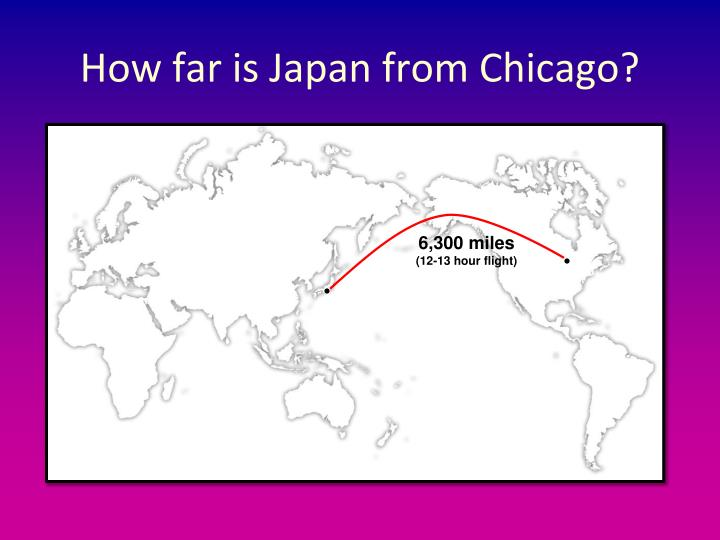 How far is Japan from Chicago?