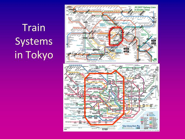 Train Systems in Tokyo