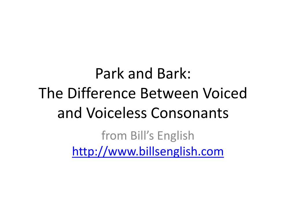 voiceless consonants