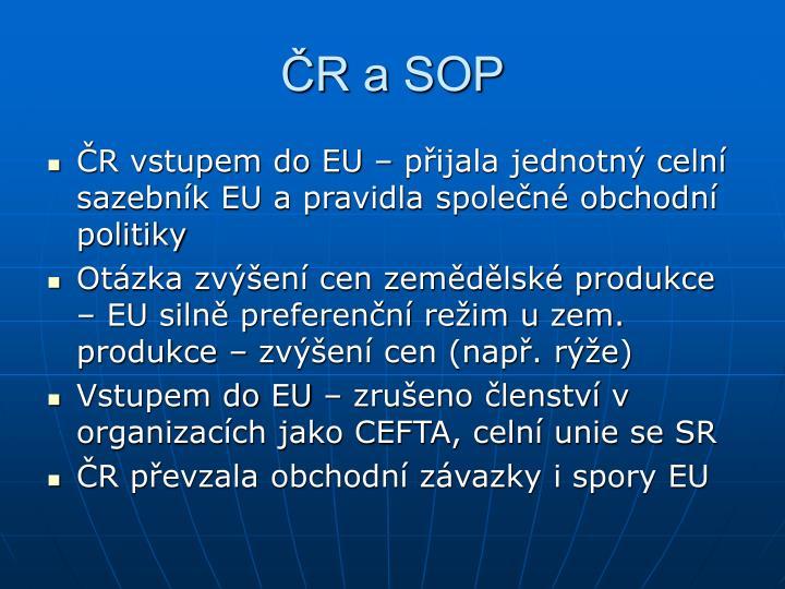 ČR a SOP