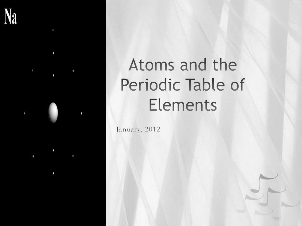 Ppt Atoms And The Periodic Table Of Elements Powerpoint