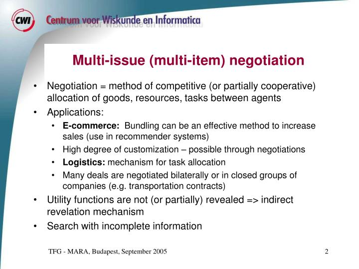 bilateral negotiation methods The structure of international conflict management: bilateral methods direct negotiation will increase the probability of a successful settlement over.